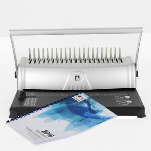 21 Hole 450 Sheet Combs Binding Machine Paper Punch Binder Adjustable For Office
