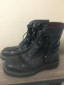 Pro Warrington Crosstech Safety Toe Leather Fire Boots Made In Usa Men s 8 D