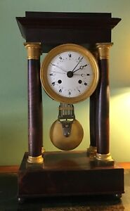 Important French Month Duration Calendar Second Hand Pinwheel Regulator Clock