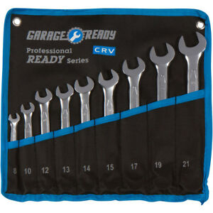 Metric Combination Wrench Set 12 Point Box 8 21mm W Roll Up Pouch