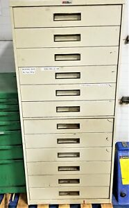 12 Drawer Industrial Tool Parts Cabinet Loaded With Tooling lista Vidmar