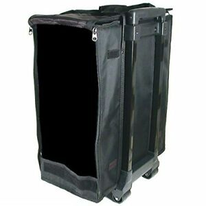 Large Jewelry Display Box Black Carrying Case W Wheels