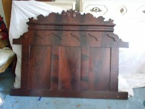 Vintage Antique Wooden Full Size Headboard Sides Footboard