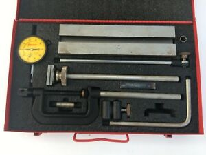 Vintage Starrett 665 Dial Test Indicator Inspection Set In Metal Box