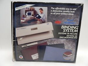 Gbc Personal Velobinder Binding System Binder Covers Punch Tool Strips Extras