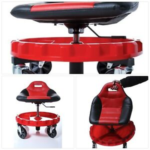 Mechanic Seat Roller Chair Adjustable Rolling Stool Creeper Seat Quality Build