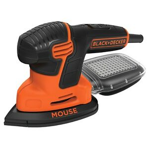 Sander with Sandpaper BLACK+DECKER Mouse Detail Compact Portable Sanding Tool