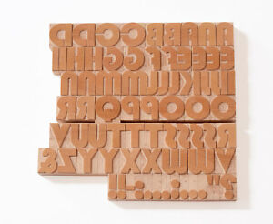 50 Off Letterpress Bauhaus Uppercase Wood Type 8 Line 33 8mm 77 Pieces