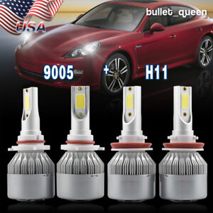 9005 H11 Hi Low Beam Led Headlight Bulbs For Gmc Sierra 1500 2500 Hd 2007 2013