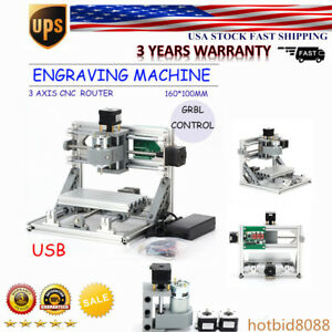 3 Axis Cnc Mini Usb Laser Engraving Router Machine 500mw Laser Pvc Pcb Usa