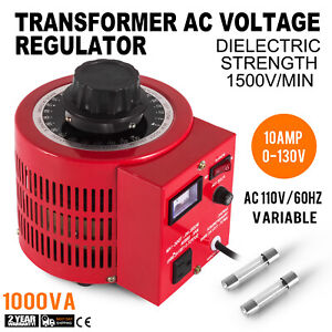 Variac Variable Transformer Ac Voltage Regulator Metered 1000w 10amp 110v Auto