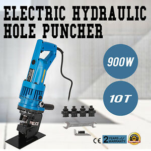 900w Electric Hydraulic Hole Punch Mhp 20 With Die Set Electro Steel Sheet