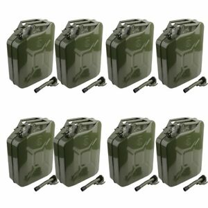 Jerry Can 5 Gallon 20l Gas Gasoline Fuel Army Nato Metal Steel Tank Holder X8