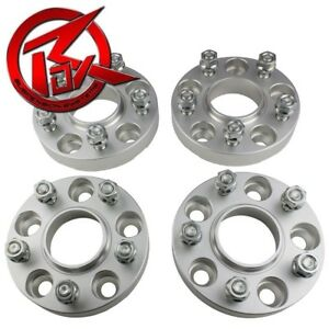 99 04 Jeep Grand Cherokee Wj 5 Lug Hubcentric 4 X 2 Silver Wheel Spacers Set