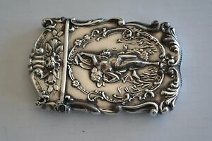 Rare Pre 1900 Antique Sterling Silver Match Safe Case By Gilbert