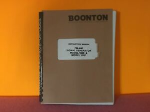 Boonton 98400600a Fm am Signal Generator Model 102e Model 102f Manual