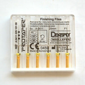 6 Protaper Pro Taper Denstply Endodontic Rotary Files 25mm F1