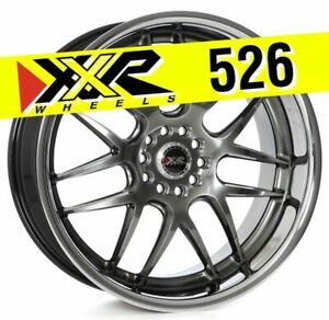 Xxr 526 20x9 5x114 3 5x120 35 Chromium Black Wheels Set Of 4