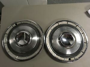 14 1960 60 Chrysler New Yorker Fifth Ave Saratoga Windsor Hubcaps Wheel Covers