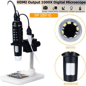 1000x 8 Led Usb3 0 Digital Electronic Microscope 5mp Camera Magnifier With Stand