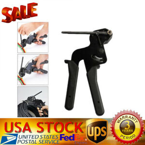 Cable Tie Fasten Gun Stainless Steel Pliers Crimper Tensioner Cutting Tools New