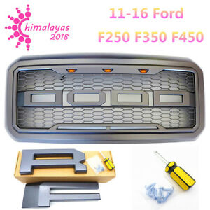 For 11 16 Ford F250 F350 F450 Raptor Style Front Bumper Grille F