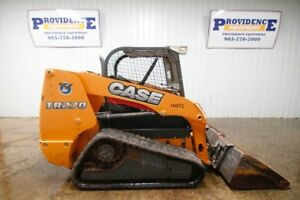2015 Case Tr270 Track Skid Steer Open Rops 68hp Float 2 Speed