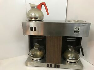 Bunn o matic Vps 3 Burner Commercial Coffee Tea Hot Drink Maker Machine 3 Pots