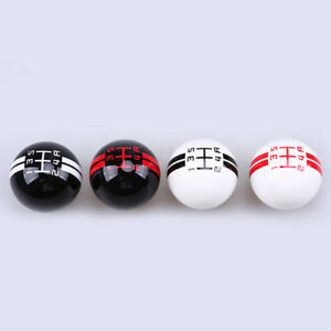 For Ford Mustang Shelby Gt 500 Gear Shift Knob Shifter 5speed White Black Maunal