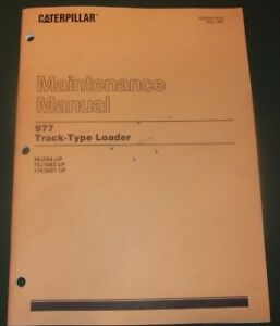 Cat Caterpillar 977 Track Loader Maintenance Manual Book 11k 48j 70j