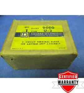 Square D 9080u3 Terminal Block 3 circuit 100a Max 1 Year Warranty