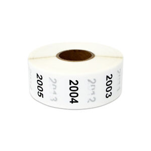 Consecutive Numbers 2001 3000 Stickers Inventory Counting Labels 1 Round 4pk