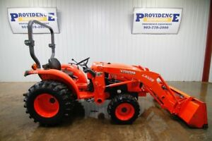 2015 Kubota L3301 Hst Tractor Loader 33hp 4x4 3 Point Arms