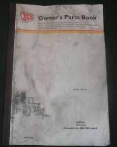 Jcb 540 le Loadall Rough Terrain Forklift Parts Manual Book Catalog