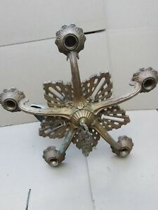 Vintage Original 1920 S Cast Art Deco Ceiling Light Fixture Chandelier