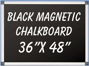 36 X 48 Aluminum Framed Magnetic Black Chalkboard With Tray