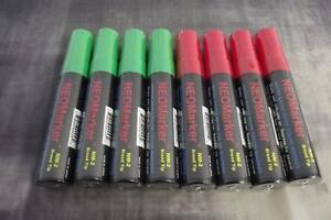 Windshield Glass Window Liquid Markers Waterproof Neon 4 Green 4 Red Non Porous