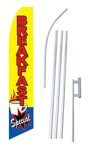 Breakfast Special Banner Flag 15 Complete Swooper Starter Kit Bow Feather