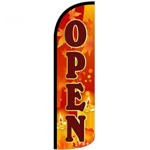 Open Swooper Flag And Pole Set Windless Banner Sign 3 Wide Fall Theme