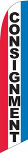 Consignment Windless Custom Designed Advertising Sign Swooper Banner Flag Only N