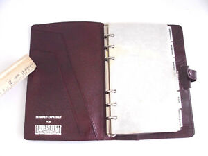 Vintage Filofax Burgundy Leather designed Expressly For Lucasfilm 7 X 4 5