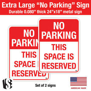 2 Pack Metal No Parking Sign Blank 18 X 24 Sign With Pre drilled Holes