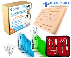 Complete Suture Practice Kit For Suture Training Including Large Silicone