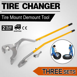 3pcs Tire Changer Mount Demount Bead Tool New Tubeless 17 5 To 24 Inch