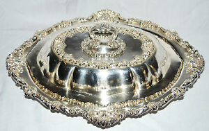 Durgin Sterling Silver Repousse Covered Convertible Vegetable Dish Rev Dr Dix