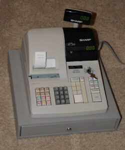22627 Sharp Electronic Cash Register Er a320 With Keys And Operators Manual