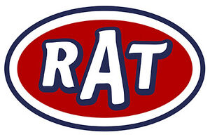 Rat Rod Hot Rod Decal Stickers 4 Pack Garage Mechanic Auto Oil Can 2 Wide Each