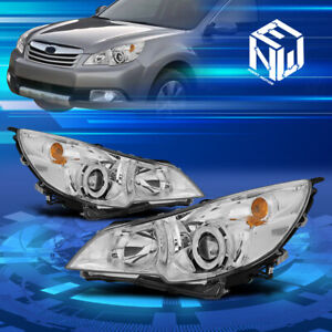 For 10 14 Subaru Outback legacy Chrome Housing Projector Headlights Replacement