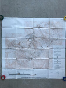 1968 Usgs Geologic Map Of Southwest Colorado Telluride Ouray San Juans