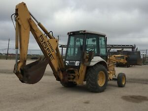 New Holland 555b Ford Backhoe Loader Full Cab Tractor Bob Cat